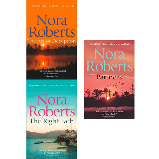 Nora Roberts Collection 3 Books Set (The Art Of Deception, The Right Path, Partners) - The Book Bundle