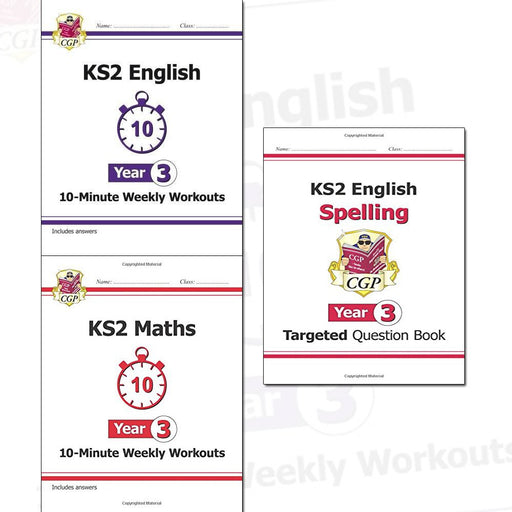 KS2 New Curriculum Year 3 CGP Books Collection 3 Books Set - The Book Bundle