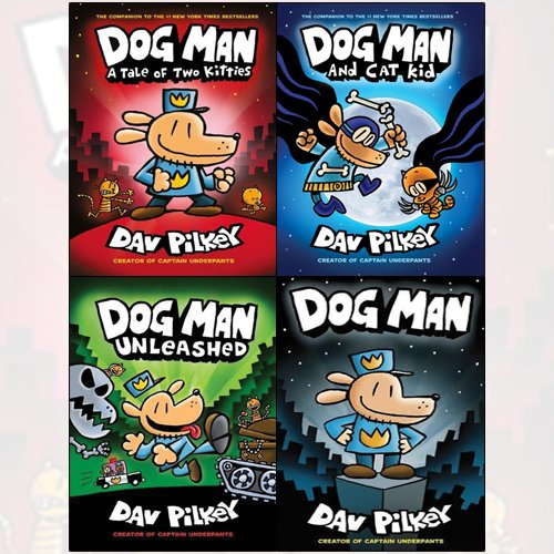 Adventures Of Dog Man Collection Dav Pilkey 4 Books Set A Tale Of Two Kitties - The Book Bundle