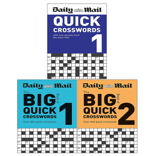 Daily Mail 3 Books Collection Set (Daily Mail Big Book of Quick Crosswords Volume(1-2), Daily Mail Quick Crosswords Volume 1) - The Book Bundle