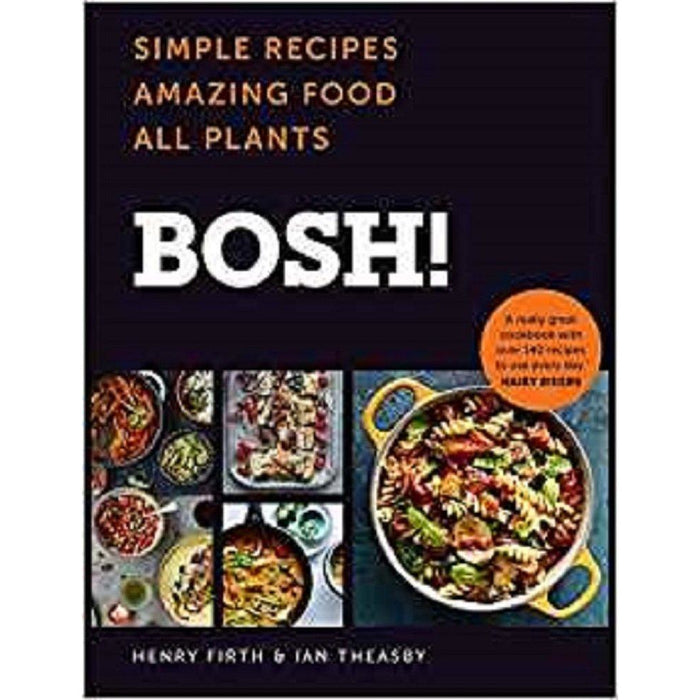 Happy Vegan [Hardcover], Plant Based Cookbook For Beginners, The Vegan Longevity Diet, BOSH Simple recipes [Hardcover] 4 Books Collection Set - The Book Bundle
