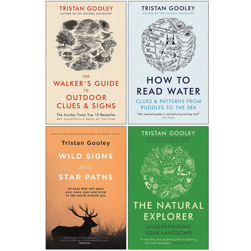 Tristan Gooley 4 books set Natural Explorer, How To Read Water, Wild Signs,Natural Expoler - The Book Bundle