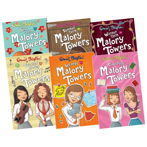 Malory Towers Collection, 6 Books, Books 7 -12(New Term,Summer Term,Winter Term, Fun and Games,Secrets,Goodbye) - The Book Bundle