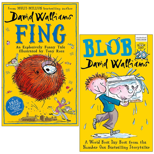 David Walliams Collection 2 Books Set (Fing , Blob) Paperback - The Book Bundle