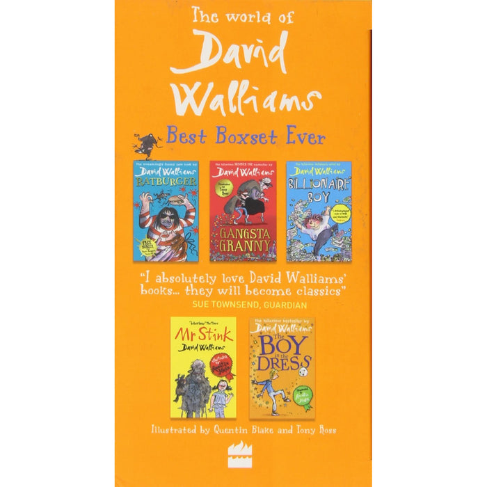 The World of David Walliams Best Boxset Ever 5 Books Collection Set (Ratburger, Gangsta Granny, Billionaire Boy, Mr Stink & Boy in the Dress) - The Book Bundle