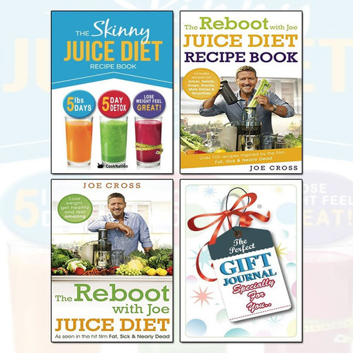Juice Diet Recipe Book Collection With Gift Journal 3 Books Bundle - The Book Bundle