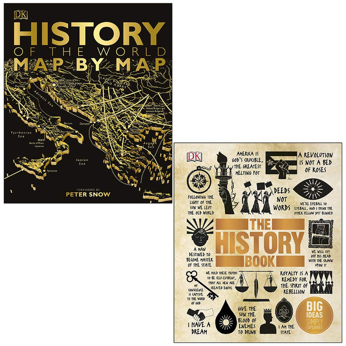 History of the World Map by Map, The History Book Big Ideas Simply Explained 2 Books Collection Set - The Book Bundle