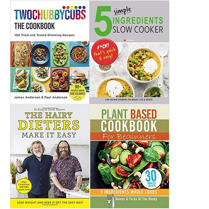 Twochubbycubs The Cookbook , 5 Simple, The Hairy Dieters , Plant Based Cookbook4 Books Collection Set - The Book Bundle