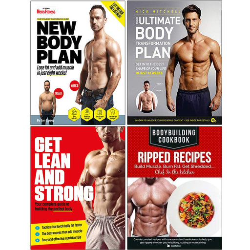 New Body Plan, Your Ultimate Body Transformation Plan, Get Lean And Strong, BodyBuilding Cookbook Ripped Recipes 4 Books Collection Set - The Book Bundle