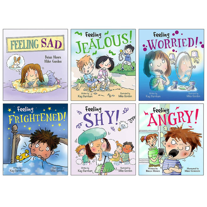 Feelings and Emotions Collection 6 Books Set (Feeling Sad, Jealous, Worried, Frightened, Shy, Angry) - The Book Bundle