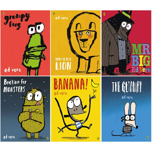Ed Vere 6 books collection set (grumpy frog, how to be a lion, mr big, bedtime for monsters, banana, the getaway) - The Book Bundle