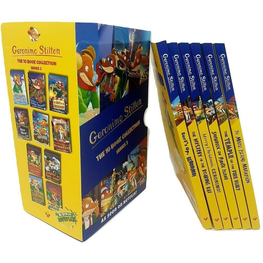 Geronimo Stilton Series 3 Collection 10 Books Box Set (A Cheese-Coloured Camper Van, The Search for Sunken Treasure, The Mona Mousa Code ... The ... Of The Fire Ruby, The Mouse Island Maratho
