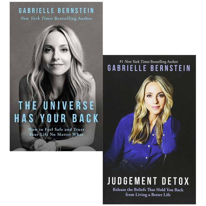 The universe has your back and judgement detox 2 books collection set by gabrielle bernstein - The Book Bundle