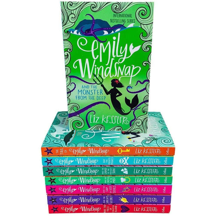 Liz Kessler The Tail of Emily Windsnap Sparkling Underwater Adventures 8 Books Collection - The Book Bundle