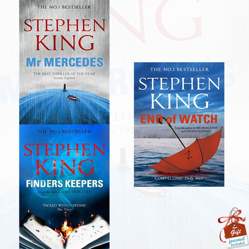Stephen King Collection 3 Books Bundle With Gift Journal (Mr Mercedes, Finders Keepers, End of Watch) - The Book Bundle