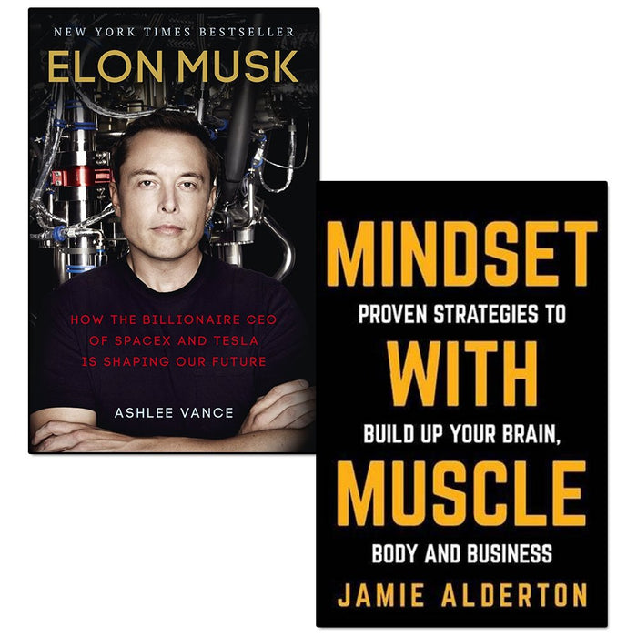 Elon musk and mindset with muscle 2 books collection set - The Book Bundle
