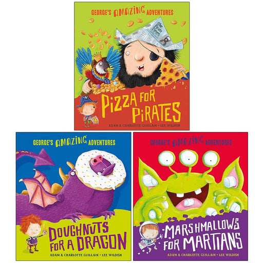 George's Amazing Adventures Collection 3 Books Set By Adam Guillain, - The Book Bundle