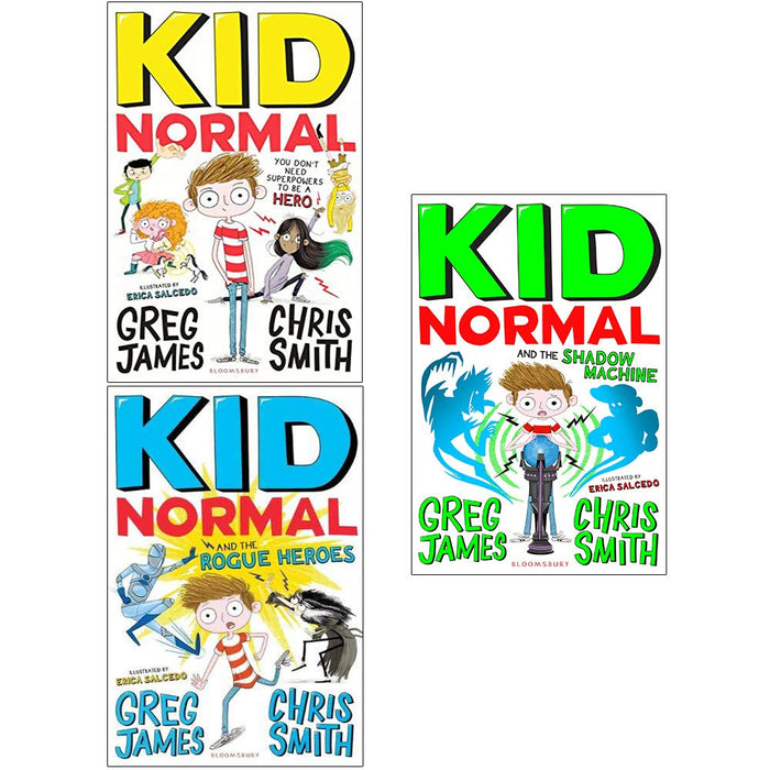 Greg James Kid Normal Collection 3 Books Set (Kid Normal, The Rogue Heroes, The Shadow Machine) - The Book Bundle