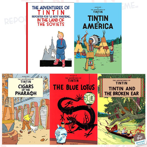 The Adventures of Tintin Collection Series 1 : 5 Books Set With Gift Journal - The Book Bundle