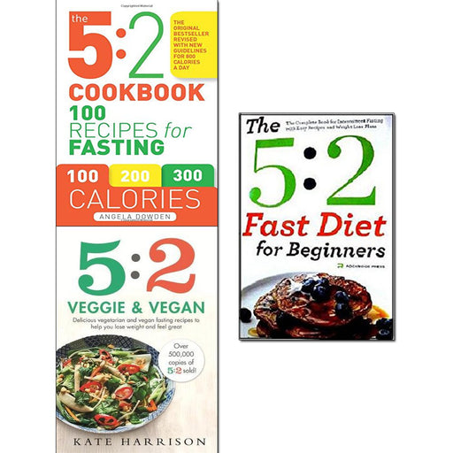 5:2 cookbook, veggie and vegan and 5:2 fast diet for beginners 3 books collection set - The Book Bundle
