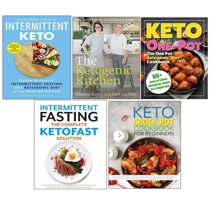 Beginner's Guide to Intermittent Keto, One Pot Diet Cookbook, Complete Ketofast Solution, Keto Crock Cookbook Collection 5 Books Set - The Book Bundle