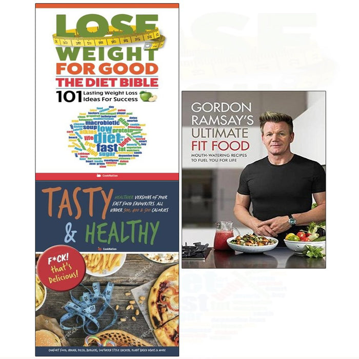 Gordon ramsay ultimate fit food[hardcover], diet bible, tasty & healthy 3 books collection set - The Book Bundle