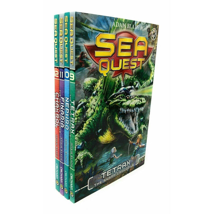 Sea Quest Collection Adam Blade 4 Books Set Series 3 Pack Inc Finaria, Tetrax - The Book Bundle