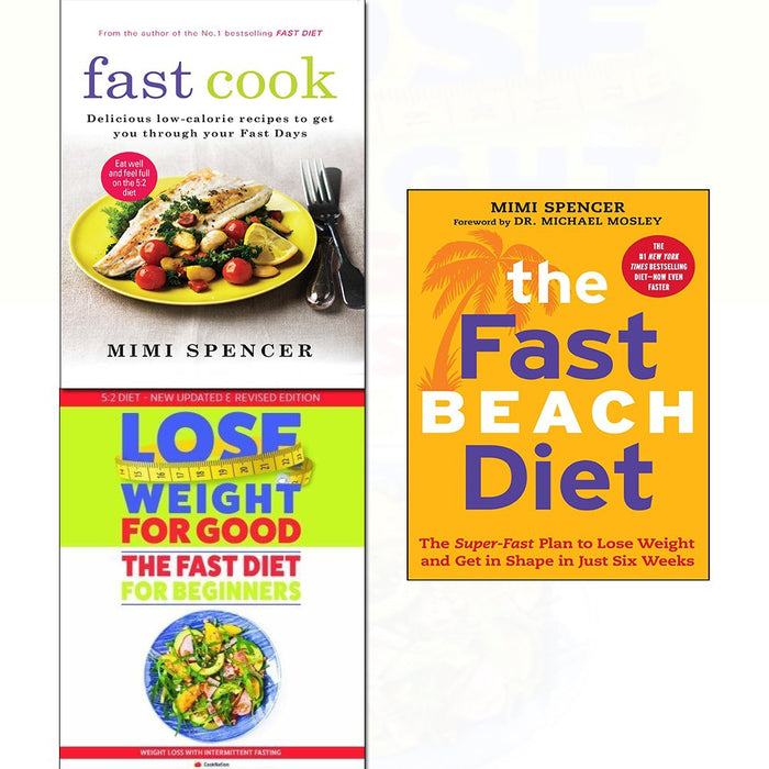 Fast diet for beginners,cook and beach diet 3 books collection set - The Book Bundle