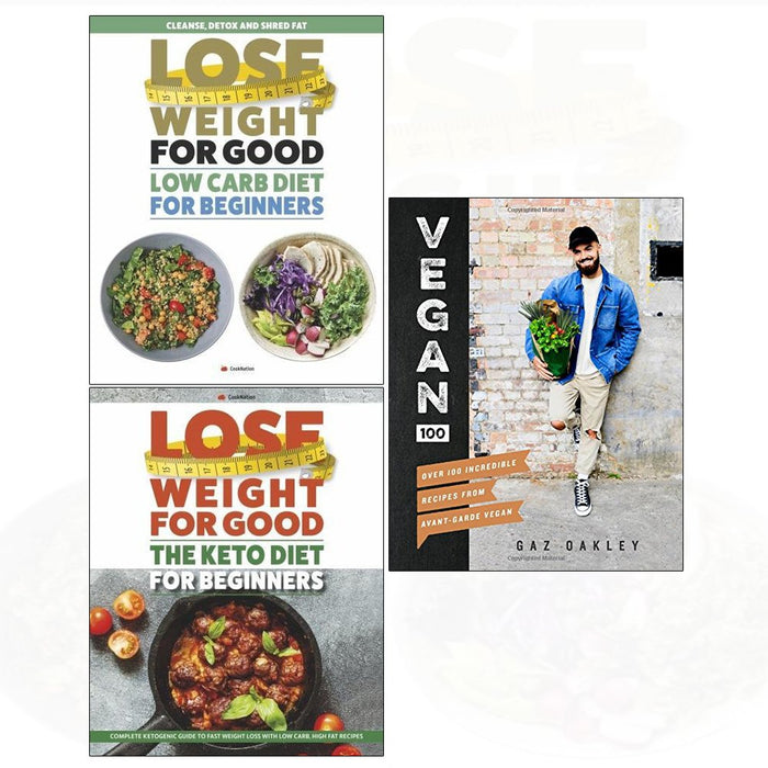 Vegan 100[hardcover], low carb diet, keto diet 3 books collection set - The Book Bundle