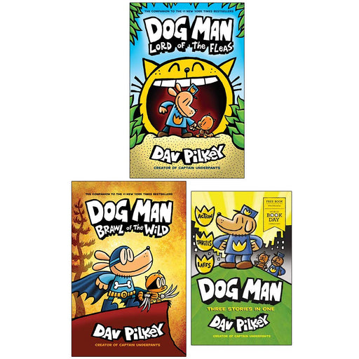 Dog Man Book 5,6 & World Book Day : 3 Books Collection Set (Dog Man Lord of the Fleas, Brawl of the Wild) - The Book Bundle