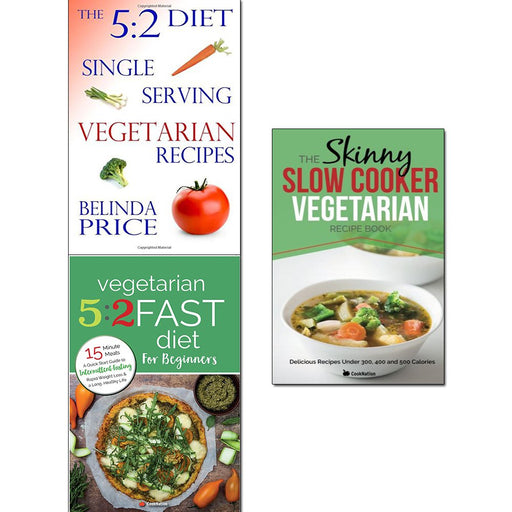 5 2 diet vegetarian, vegetarian 5 2 fast diet and slow cooker vegetarian recipe book 3 books collection set - The Book Bundle