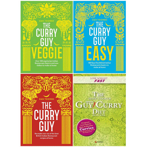 Dan Toombs The Curry Guy and Guy Curry Diet 4 Books Collection set - The Book Bundle