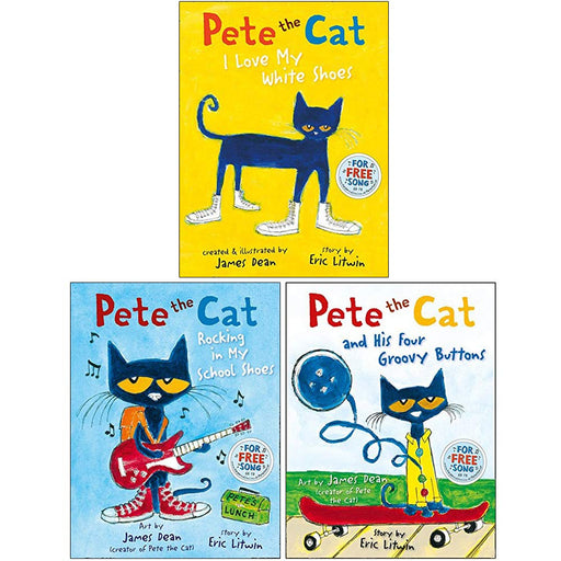 The Pete the Cat Series 3 Books Collection Set By Eric Litwin - The Book Bundle