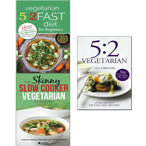 5 2 vegetarian, vegetarian 5 2 fast diet and slow cooker vegetarian recipe book 3 books collection set - The Book Bundle