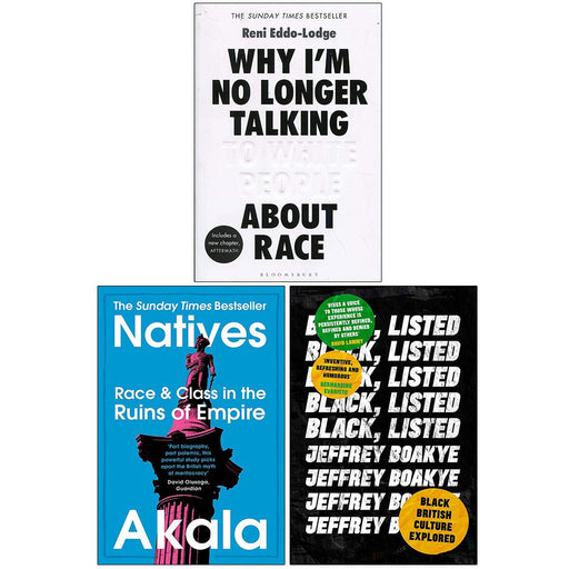 Why Im No Longer Talking to White People About Race, Natives, Black Listed 3 Books Collection Set - The Book Bundle