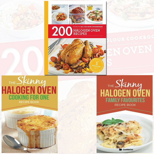 200 Halogen Oven Recipes, Skinny Halogen and The Skinny Halogen Oven 3 Books Bundle Collection with Gift Journal - The Book Bundle