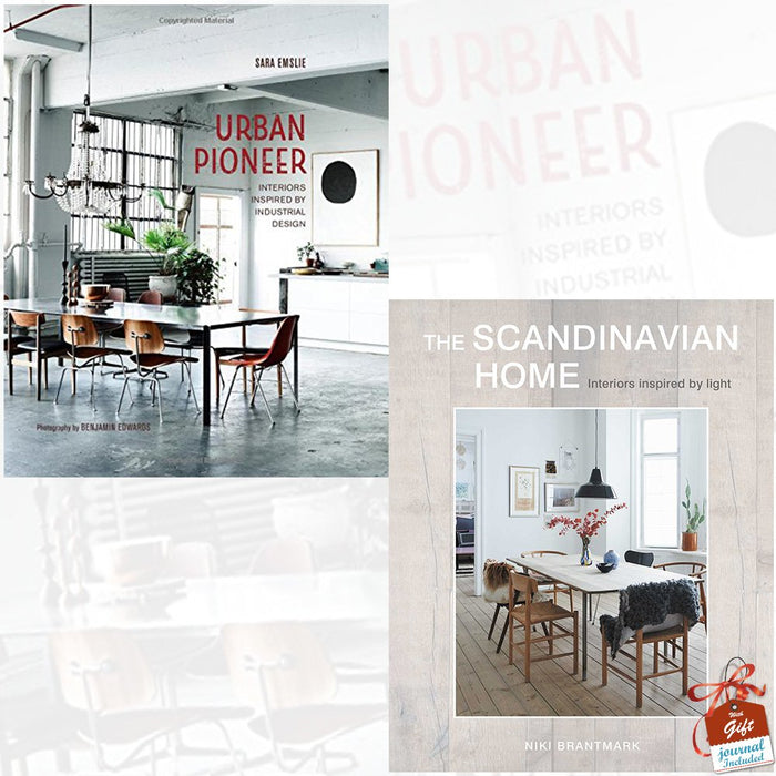 Urban Pioneer and The Scandinavian Home 2 Books Bundle Collection With Gift Journal - Interiors inspired by light - The Book Bundle