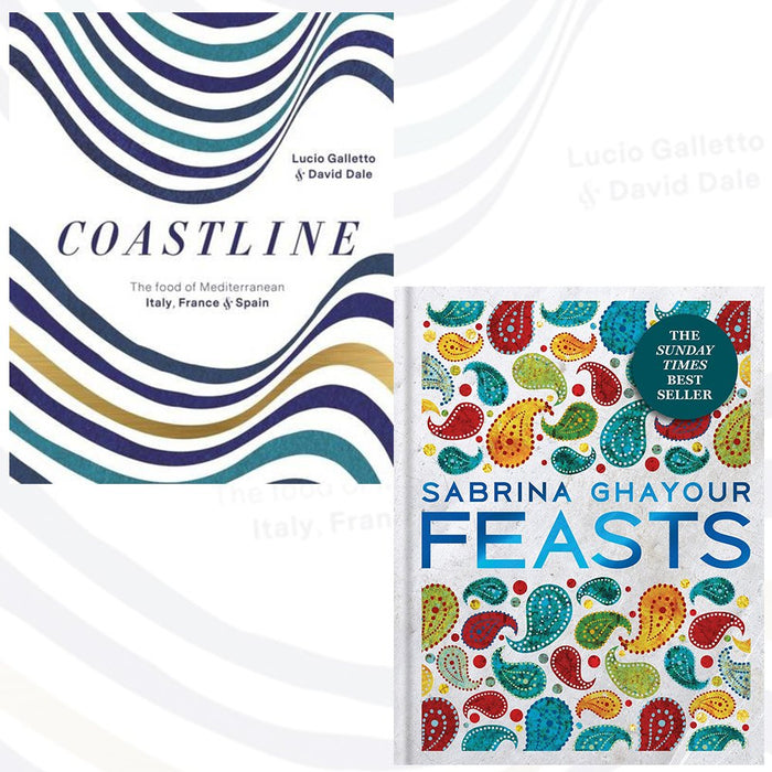 coastline and feasts sabrina ghayour 2 books collection set - the food of mediterranean italy,france and spain - The Book Bundle