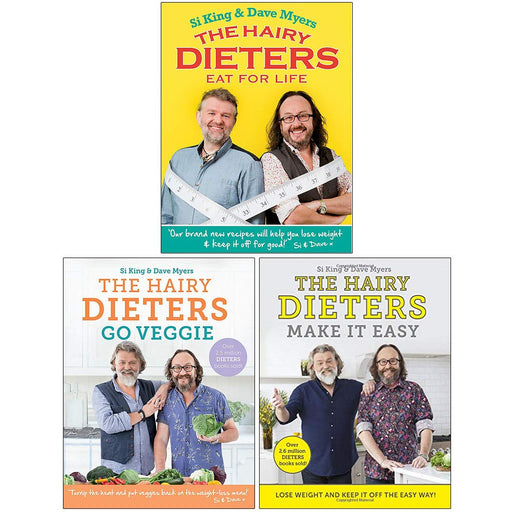 Hairy Dieters Collection 3 Books Set By Hairy Bikers (Eat for Life, Go Veggie, Make It Easy) - The Book Bundle