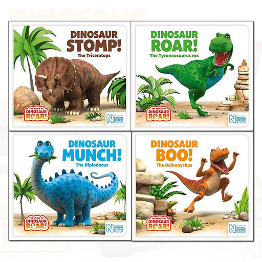 World of Dinosaur Roar! Series Jeanne Willis 4 Books Collection Set - The Book Bundle