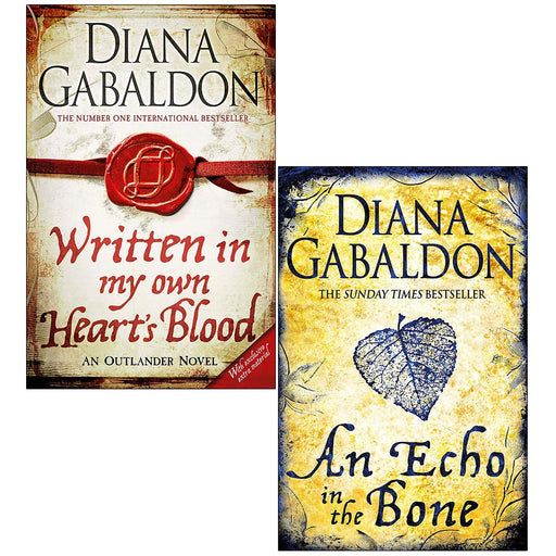 Outlander Series 2 Books Set By Diana Gabaldon (An Echo in the Bone, Written in My Own Heart's Blood) - The Book Bundle
