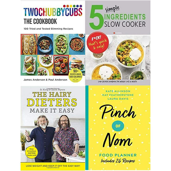 Twochubbycubs , 5 Simple, The Hairy, Pinch of Nom 4 Books Collection Set - The Book Bundle