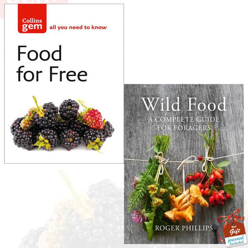 Food For Free and Wild Food A Complete Guide for Foragers [Hardcover] 2 Books Bundle Collection With Gift Journal - The Book Bundle
