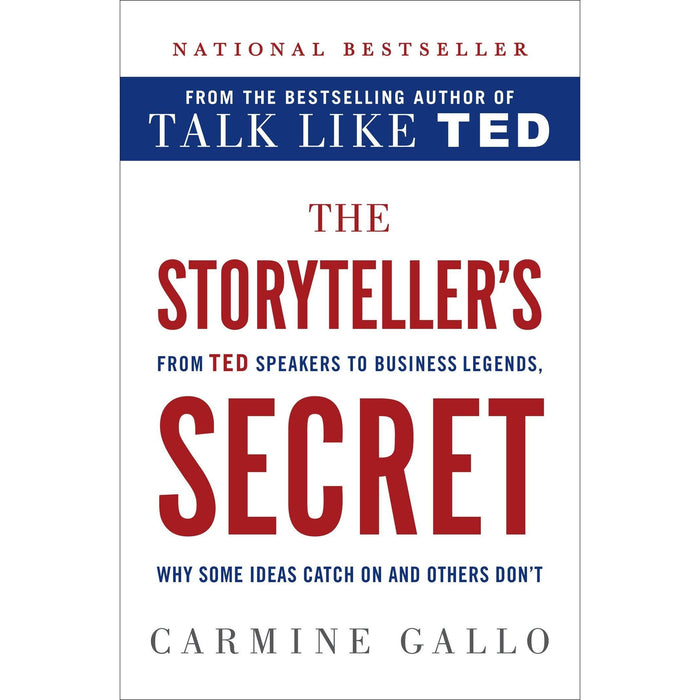 The Storyteller's Secret [Hardcover], Talk Like TED, TED Talks 3 Books Collection Set - The Book Bundle