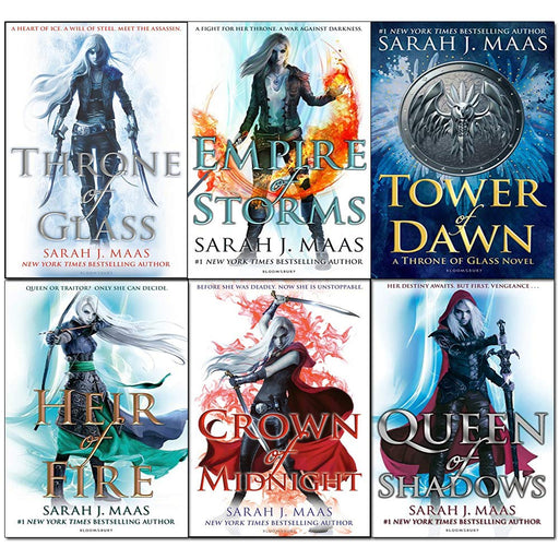 Throne of glass series sarah j maas 6 books collection set - The Book Bundle
