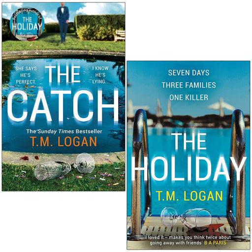 The Catch & The Holiday By T.M. Logan 2 Books Collection Set - The Book Bundle
