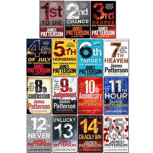 James Patterson - The Women's Murder Club Collection, (15 Books Set) - The Book Bundle