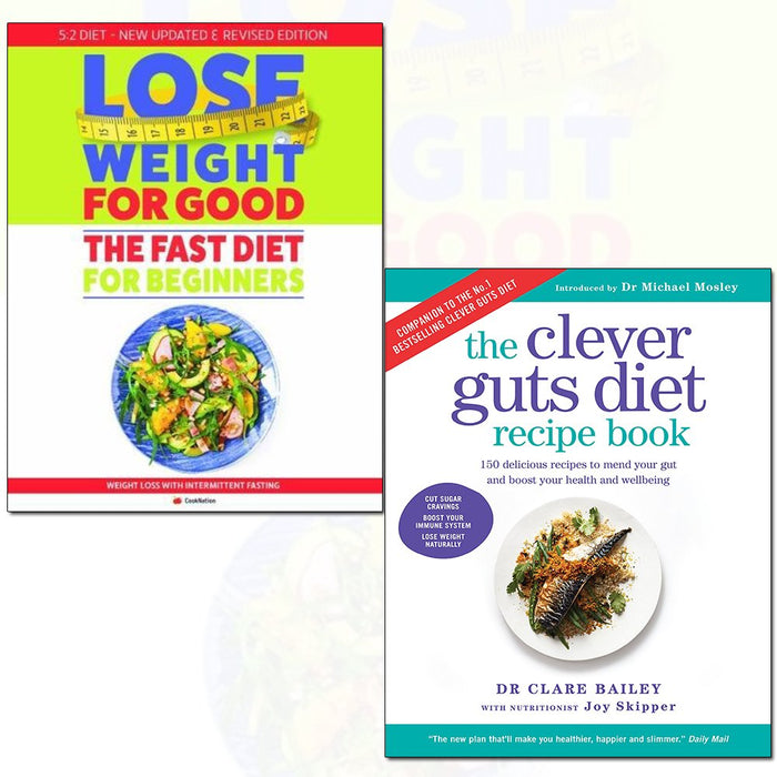 clever guts diet recipe book and fast diet for beginners lose weight for good 2 books collection set - The Book Bundle