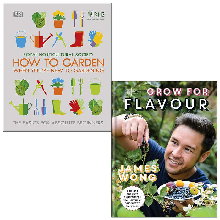 RHS How To Garden When You're New To Gardening, RHS Grow For Flavour [Hardcover] 2 Books Collection Set - The Book Bundle