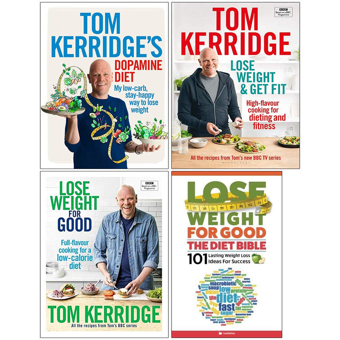 Tom Kerridge's Dopamine Diet [Hardcover], Lose Weight & Get Fit [Hardcover], Lose Weight for Good [Hardcover], The Diet Bible 4 Books Collection Set - The Book Bundle